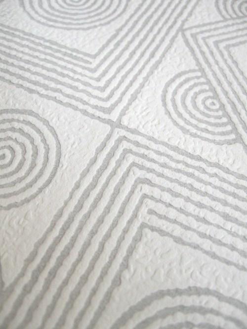 Bild 4 von Tapete Ornamental-Silber