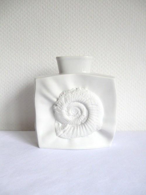 Bild 1 von 70er Bisquitporzellan Vase Ammonit