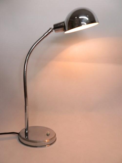 Bild 1 von Art-Deco Chrome Schreibtischlampe