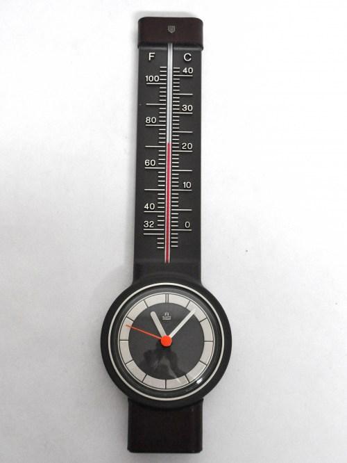 Bild 1 von 70er Thermometer mit Uhr