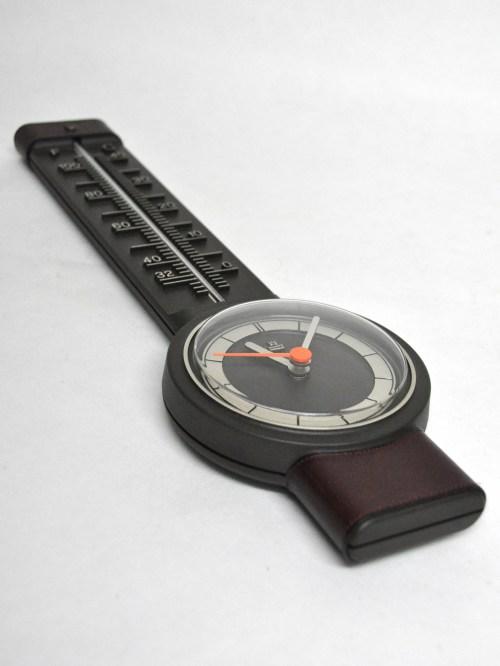 Bild 2 von 70er Thermometer mit Uhr