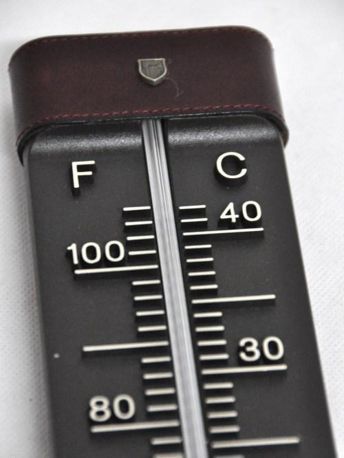 Bild 3 von 70er Thermometer mit Uhr