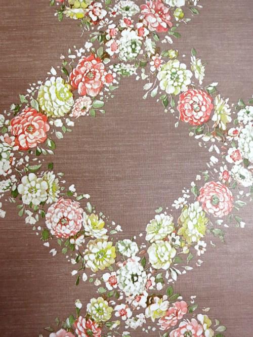 Bild 3 von Tapete Blumengirlande