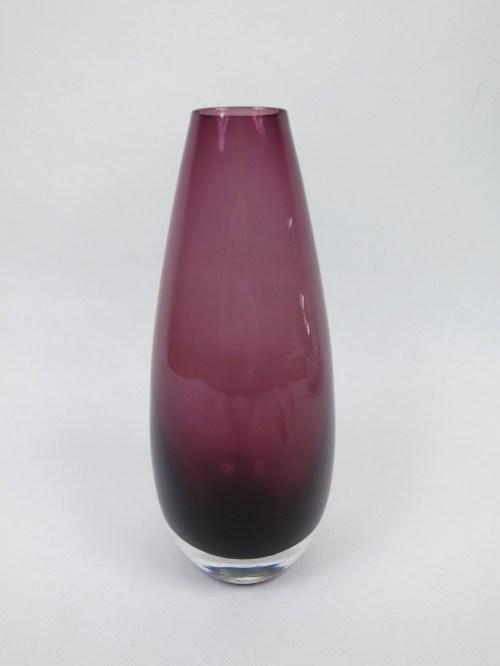Bild 2 von 60er Glasvase Rauchglas