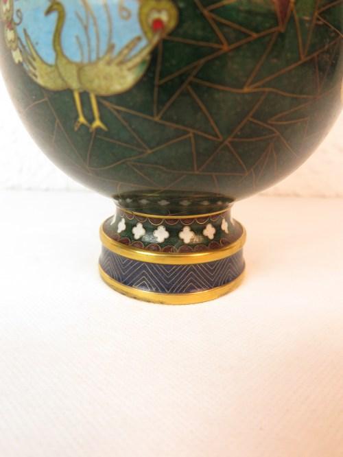 Bild 3 von 70er Vase Messing+Emaille