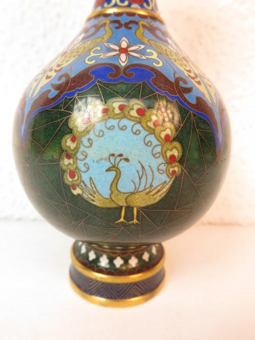 Bild 4 von 70er Vase Messing+Emaille