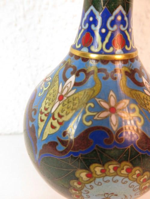 Bild 5 von 70er Vase Messing+Emaille