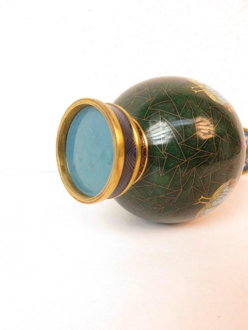 Bild 6 von 70er Vase Messing+Emaille