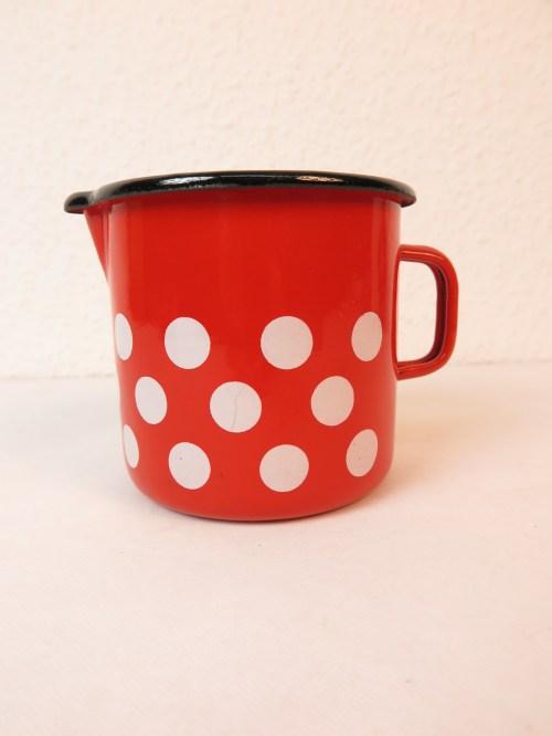 Bild 1 von 70er Milchtopf Emaille