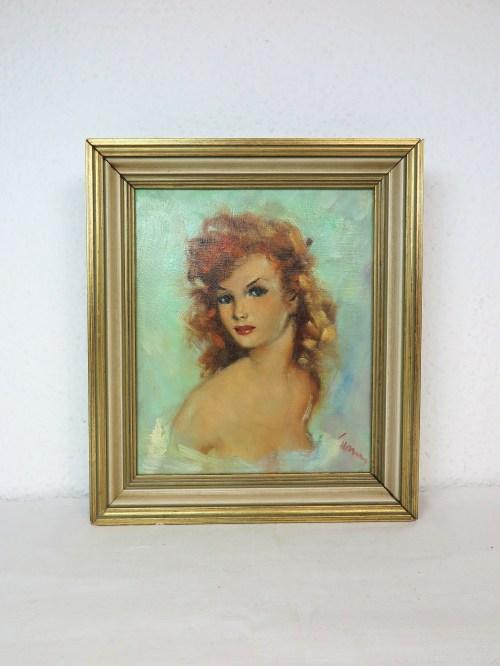 Bild 1 von 50er Akt Ölbild Mädchen