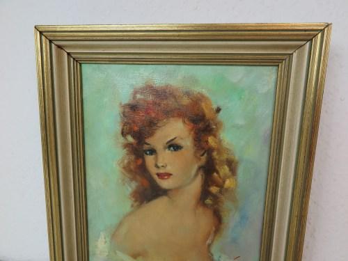 Bild 2 von 50er Akt Ölbild Mädchen