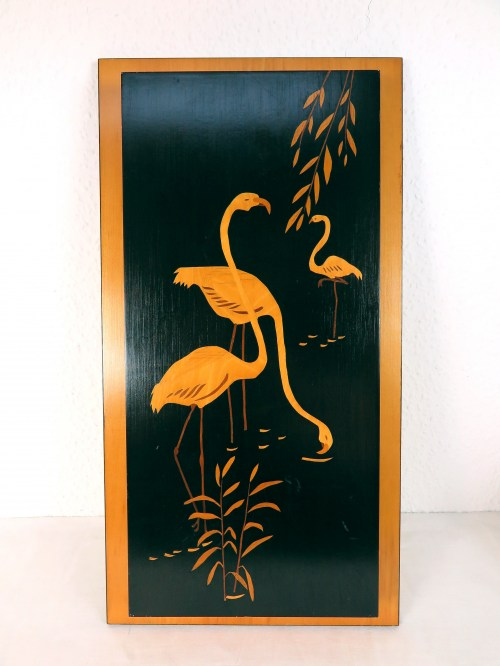 Bild 1 von 60er Kranich Holzbild