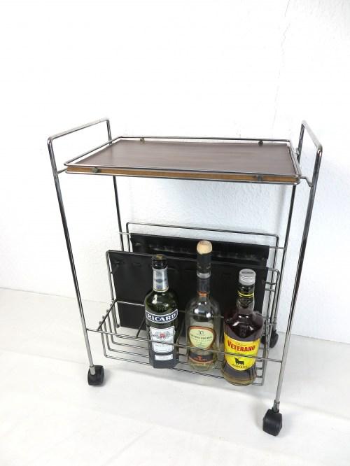 Bild 2 von 60er String Design Zeitungswagen mit Flaschen-Bar