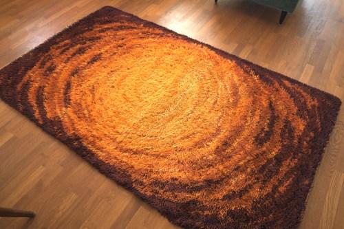 Bild 4 von Vintage Woll-Teppich Orange-Braun 120x200