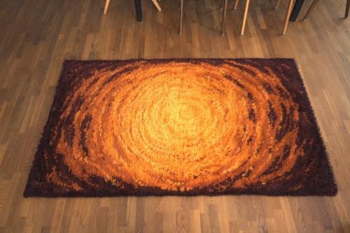 Bild 5 von Vintage Woll-Teppich Orange-Braun 120x200