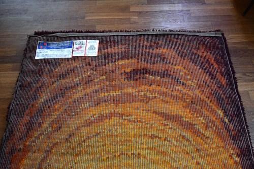 Bild 6 von Vintage Woll-Teppich Orange-Braun 120x200