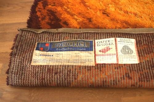 Bild 7 von Vintage Woll-Teppich Orange-Braun 120x200