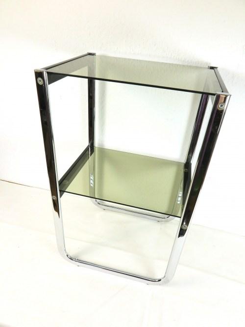 Bild 1 von 70er Glas Beistelltisch Rauchglas