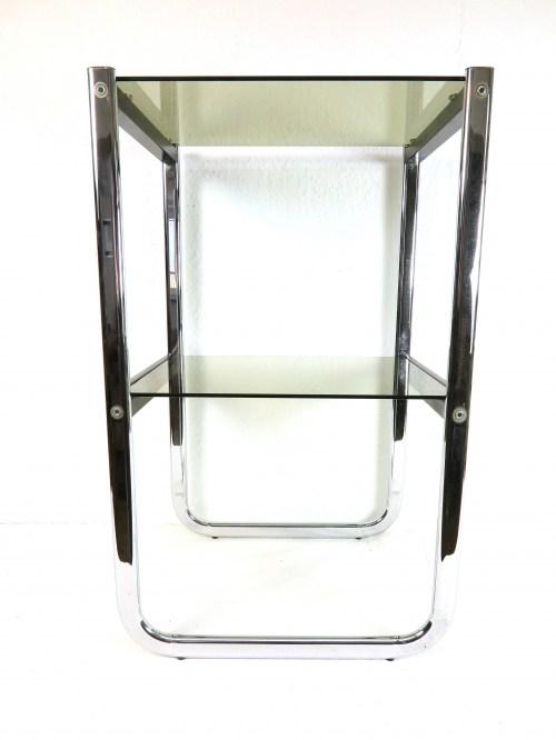 Bild 2 von 70er Glas Beistelltisch Rauchglas