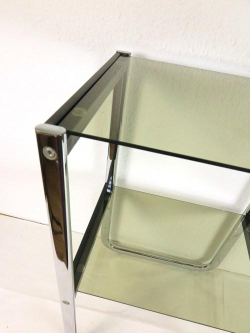 Bild 4 von 70er Glas Beistelltisch Rauchglas