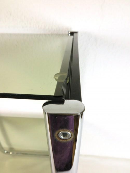 Bild 6 von 70er Glas Beistelltisch Rauchglas