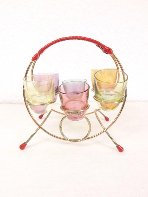 Bild 1 von 50er Schnapsglashalter mit Gläsern