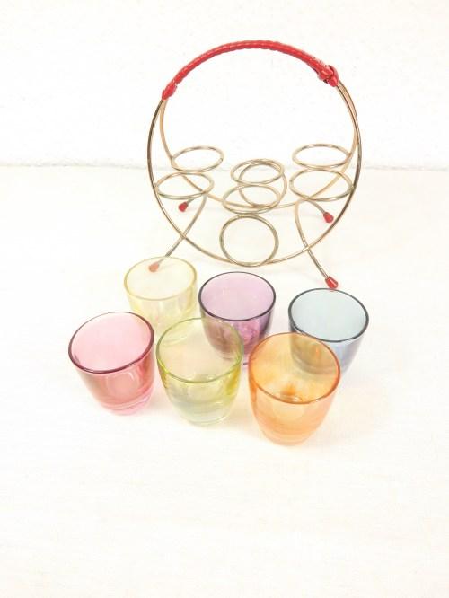 Bild 3 von 50er Schnapsglashalter mit Gläsern