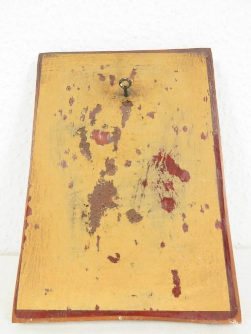 Bild 5 von 70er Holzbild, Der Weintrinker