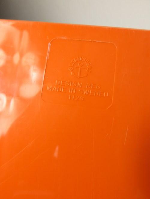 Bild 5 von 70er Plattenständer Orange Gustavberg