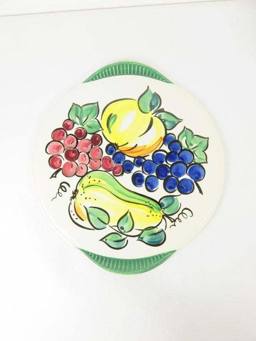 Bild 1 von 70er Kuchenplatte, Handgemahlt