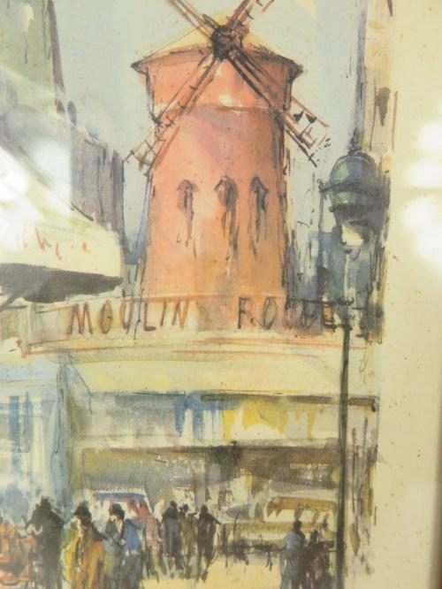 Bild 2 von 50er Bild Aquarell  Moulin Rouge Paris
