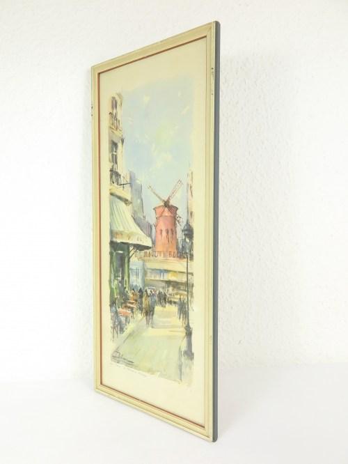 Bild 4 von 50er Bild Aquarell  Moulin Rouge Paris
