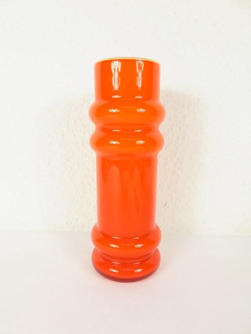 Bild 1 von 70er Glas Vase Orange