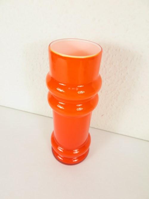 Bild 2 von 70er Glas Vase Orange