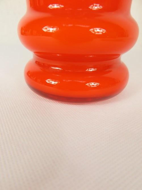 Bild 4 von 70er Glas Vase Orange
