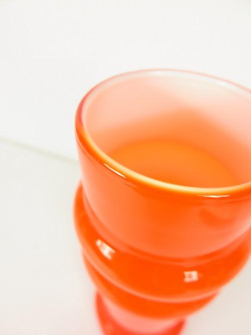 Bild 5 von 70er Glas Vase Orange