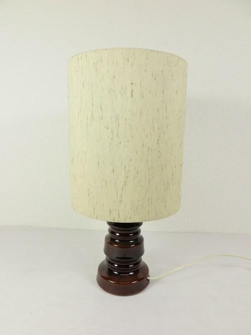 Bild 1 von 70er Tischlampe Wildseidenschirm