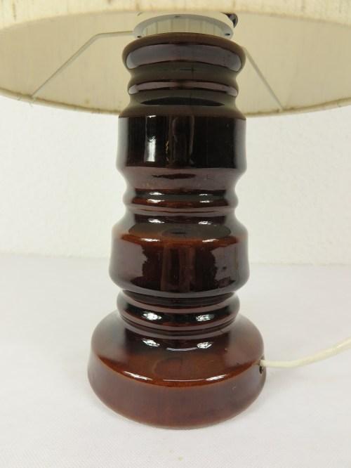 Bild 2 von 70er Tischlampe Wildseidenschirm