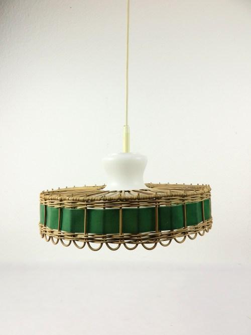 Bild 1 von 70er Doria Korblampe mit Glaseinsatz