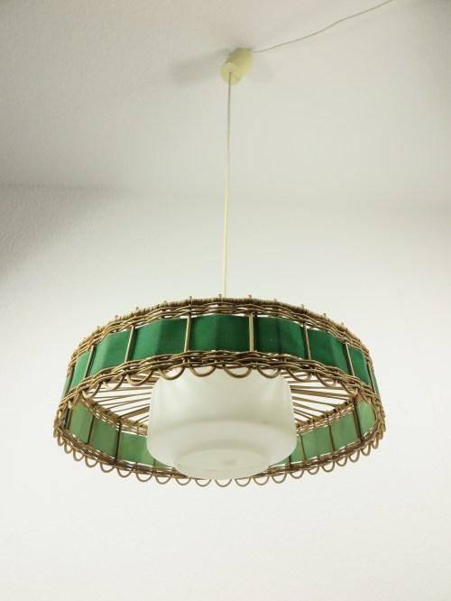 Bild 2 von 70er Doria Korblampe mit Glaseinsatz