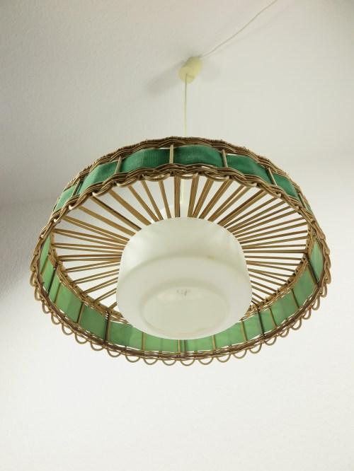 Bild 4 von 70er Doria Korblampe mit Glaseinsatz