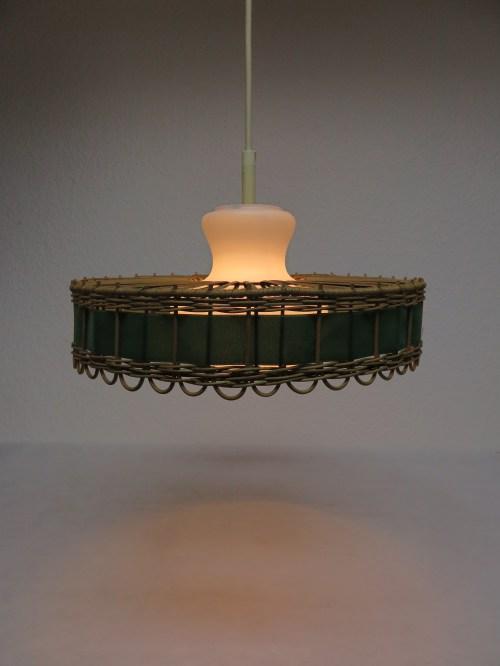 Bild 7 von 70er Doria Korblampe mit Glaseinsatz