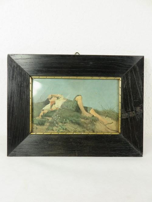 Bild 1 von 20er Bild Jüngling, mit original Rahmen