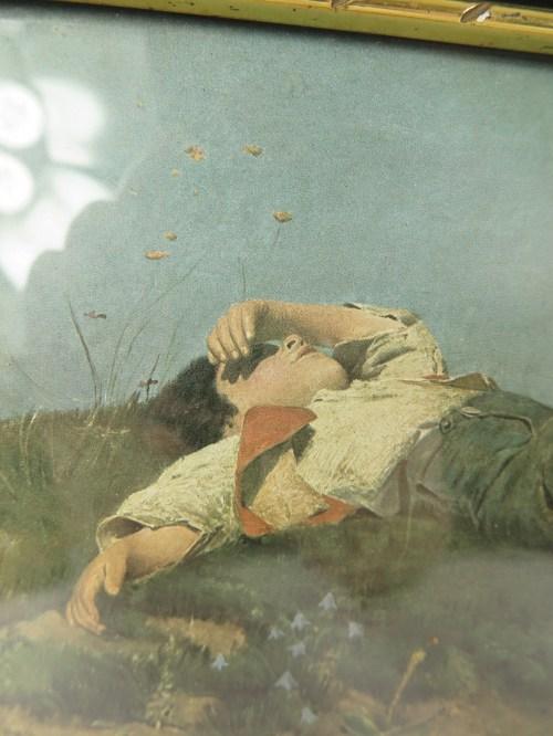 Bild 2 von 20er Bild Jüngling, mit original Rahmen