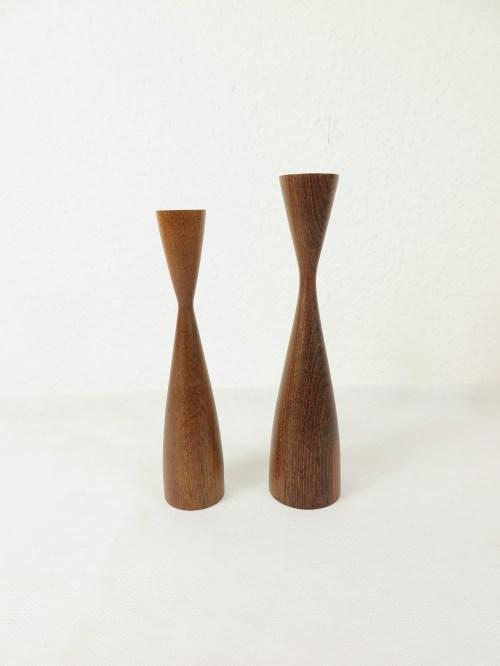 Bild 1 von 50er Holz Kerzenleuchter, dänische Handarbeit