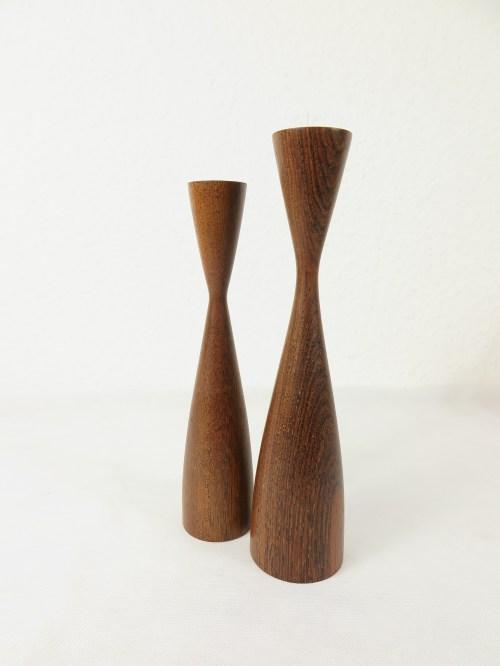 Bild 2 von 50er Holz Kerzenleuchter, dänische Handarbeit