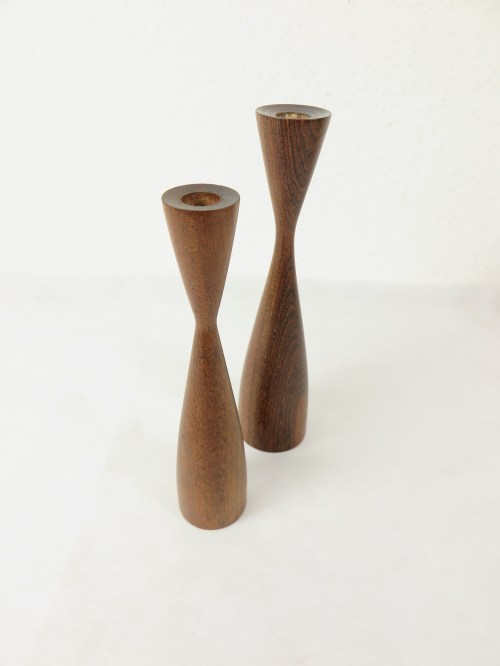 Bild 3 von 50er Holz Kerzenleuchter, dänische Handarbeit