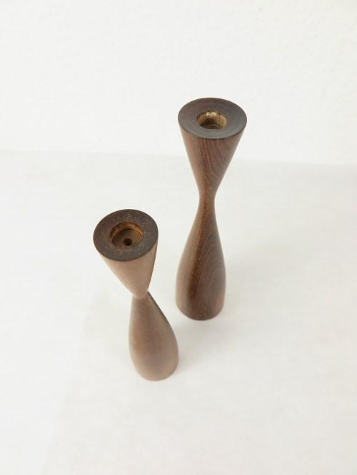 Bild 4 von 50er Holz Kerzenleuchter, dänische Handarbeit