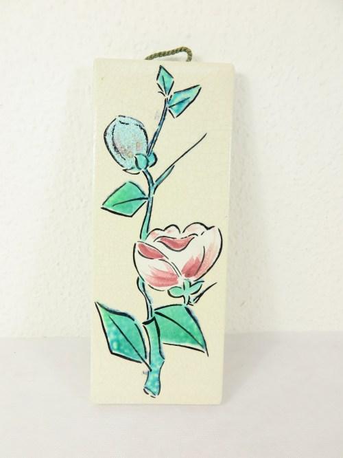 Bild 1 von 50er Keramikbild Rose Zell am Harmersbach