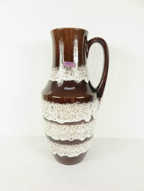 Bild 1 von 70er Bodenvase mit Hänkel, Scheurich Keramik